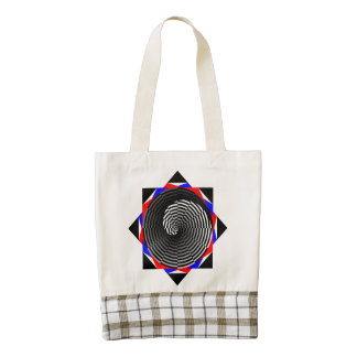 Digital Checker Yin Yang Zazzle HEART Tote Bag