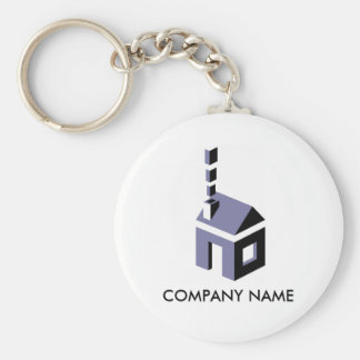 Digital Chimney Customizable Keychain
