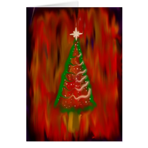 digital christmas tree greeting card zazzle