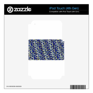 Digital Circles Decal For iPod Touch 4G