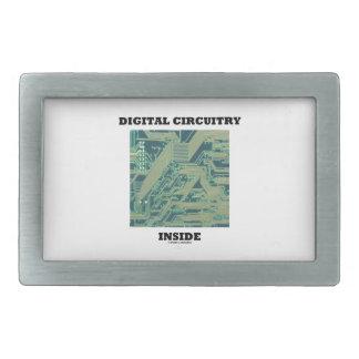 Digital Circuitry Inside (Circuit Board) Rectangular Belt Buckle