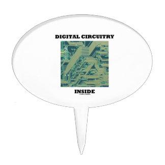 Digital Circuitry Inside (Circuit Board) Cake Pick