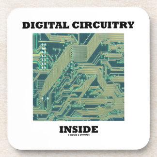 Digital Circuitry Inside (Circuit Board) Drink Coaster
