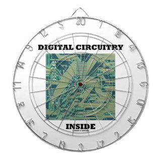 Digital Circuitry Inside (Circuit Board) Dartboard With Darts