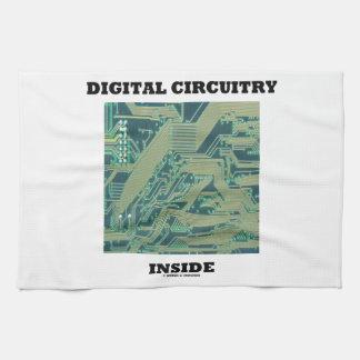 Digital Circuitry Inside (Circuit Board) Hand Towels