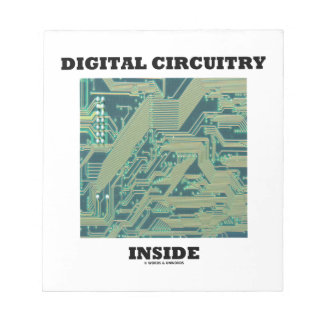 Digital Circuitry Inside (Circuit Board) Memo Note Pad