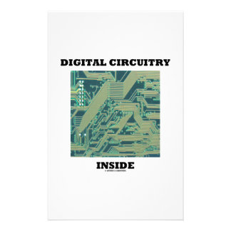 Digital Circuitry Inside (Circuit Board) Stationery Paper