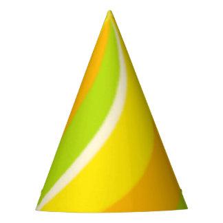 Digital Citrus Pinwheel Party Hat