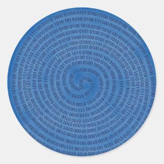 digital classic round sticker