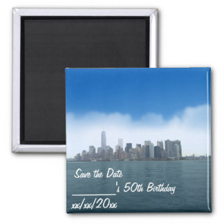 Digital Clear Sky in NYC Save the Date Magnet