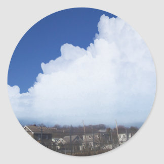 Digital Clouds 1/6/13 Classic Round Sticker