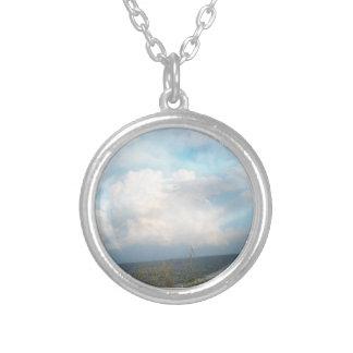 Digital Clouds Necklace