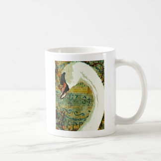Digital Collage Swan Coffee Mug