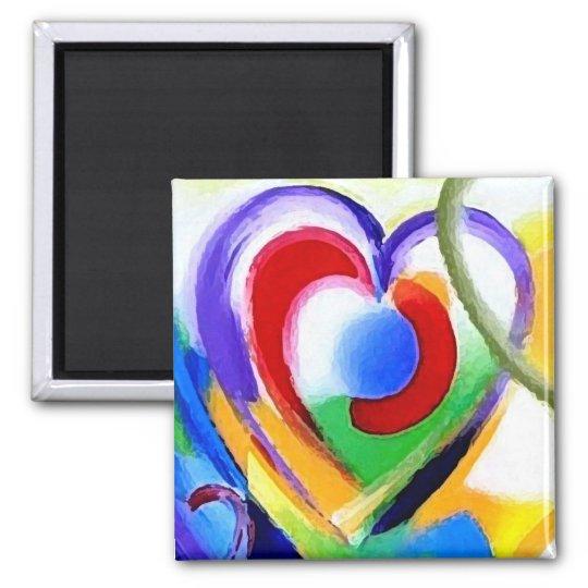 Digital color Hearts Magnet