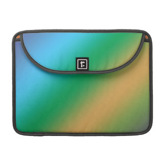 digital color patches, blue yellow and green. MacBook pro sleeve