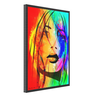 Digital Colorful Abstract Portrait-Lost Girl Canvas Prints