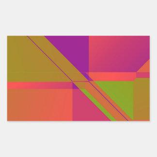 DIGITAL COLORFUL GEOMETRIC SHAPES publicdomain-fre Rectangular Sticker