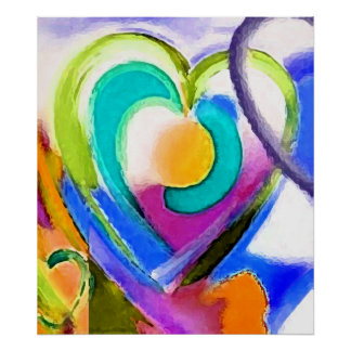 Digital colors Heart Poster