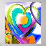 Digital colors Heart Posters