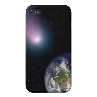 Digital composite of a comet heading towards Ea iPhone 4 Covers
