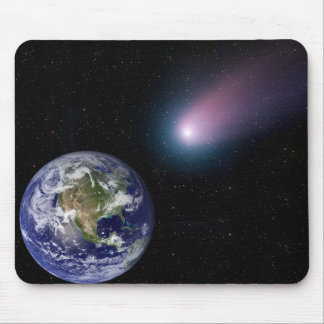 Digital composite of a comet heading towards Ea Mouse Pad