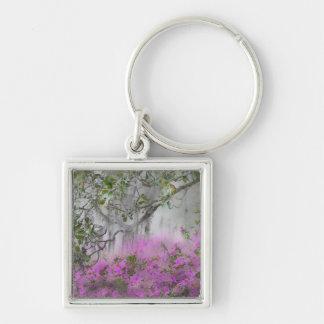 Digital Composite of Azaleas and magnolia tree Keychain