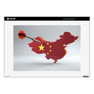 "Digital Composite of China Decals For 15"" Laptops"
