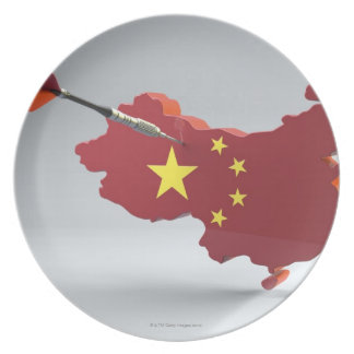 Digital Composite of China Dinner Plate