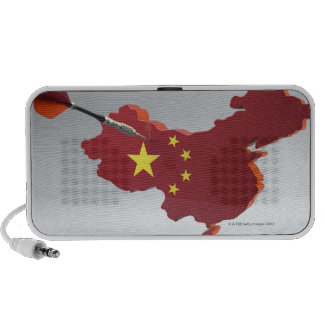 Digital Composite of China Notebook Speakers