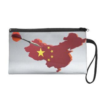 Digital Composite of China Wristlet Purse