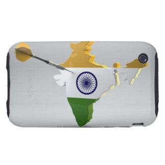 Digital Composite of India iPhone 3 Tough Cases