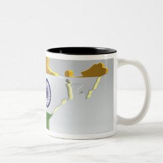 Digital Composite of India Two-Tone Coffee Mug