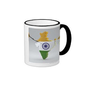 Digital Composite of India Ringer Coffee Mug
