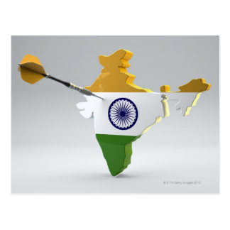 Digital Composite of India Postcard