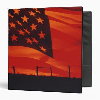 Digital composite of the American Flag 3 Ring Binder