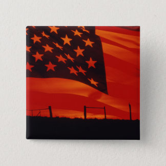 Digital composite of the American Flag Button