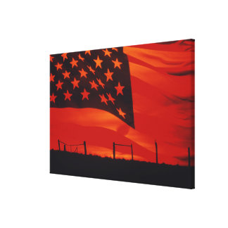 Digital composite of the American Flag Canvas Print
