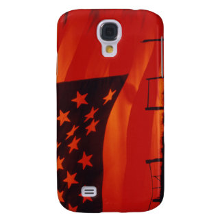 Digital composite of the American Flag Samsung Galaxy S4 Case