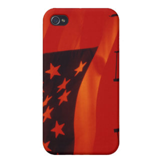 Digital composite of the American Flag iPhone 4 Case