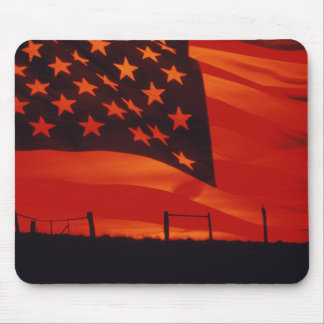 Digital composite of the American Flag Mouse Pad