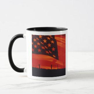 Digital composite of the American Flag Mug