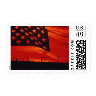 Digital composite of the American Flag Postage