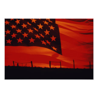 Digital composite of the American Flag Poster