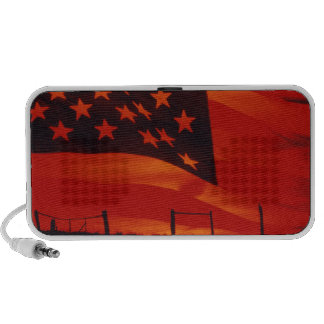 Digital composite of the American Flag Portable Speakers