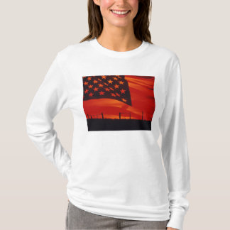 Digital composite of the American Flag T-Shirt