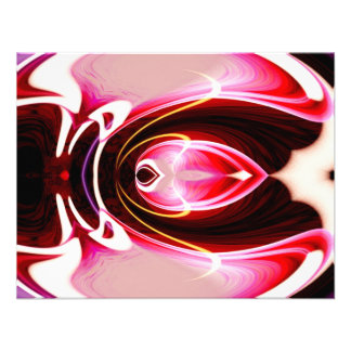 Digital Computer Modern Abstract Art Personalized Invitations