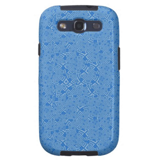 Digital Crazy Quilt in Sky Blue Samsung Galaxy SIII Cover