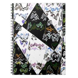 Digital Crazy Quilt Spiral Notebooks