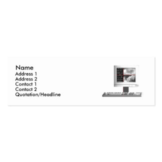 Digital Creation - Skinny Size Double-Sided Mini Business Cards (Pack Of 20)