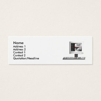 Digital Creation - Skinny Size Mini Business Card